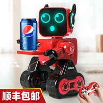 Robot children toy boy Small intelligent dialogue remote control programming Early church dancing electric robot girl