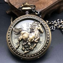 Antique Omega Mechanical pocket watch European vintage Double shell Mens Crystal hanging watch Antique collection Pocket watch Mechanical watch