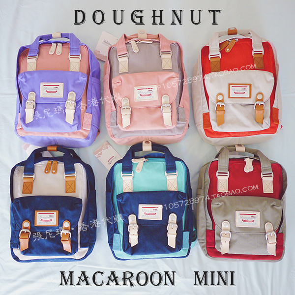 Doughnut doughnut macaroon Mini waterproof portable outdoor recreational shoulder bag purchased in Hong Kong