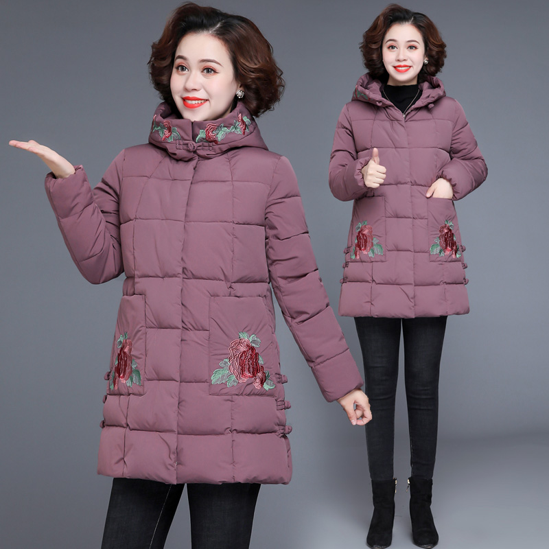 Mother winter warm cotton clothing middle-aged women 2020 new middle-aged and elderly down jacket cotton coat thick coat grandmother cotton wool