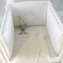 Elevated and thickened anti-collision baby bed childrens bed surrounded baby cotton bed by drapery newborn bedding Summer Four Seasons