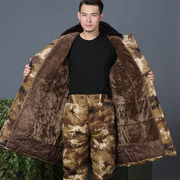 In the clothing and cotton coat cashmere coat thickened desert camouflage long frock cotton underwear male labor clothes in winter