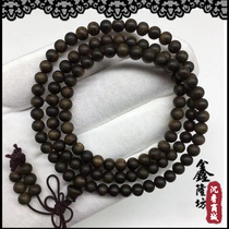 Submersible grade positive area Brunei old material Qinan Agarwood hand string Buddha beads bracelet 4 5 6 7 8 10mm male and female rosary beads
