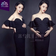 2017 pregnant women clothing apparel Photography photo studio photo Mommy sexy bra lotus gown rental