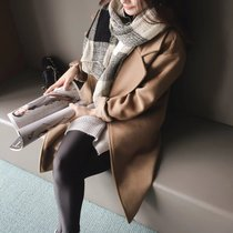 2016 autumn collects new Korean version of loose size thick wool long fashion coat woolen cloth coat womens clothing
