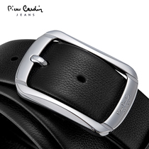 Pierre Cardin mens belts leather pin buckle casual belts mens first layer of youth business-genuine leather belt