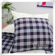 Foreign trade bed products Pure cotton soft color woven lattice embroidered cushion pillow Pillow 50-65cm Multi-dimensional water wave belt