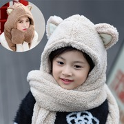 The original design of New South Korean children lovely autumn thick warm female hat scarf glove section one child