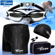 You swim pants men's swimming trunks swimming goggles cap suit fashion large size equipment spa swimming suit