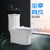 Household pumping mute toilet one-piece toilet swirling swirling siphon ceramic toilet