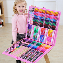Childrens drawing tools painting set pupils learning brush girl birthday gift watercolor pen art supplies