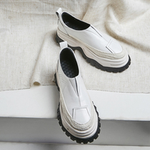 British spring and autumn new European Station womens shoes muffin sole single shoes a thick bottom wild lazy high tide