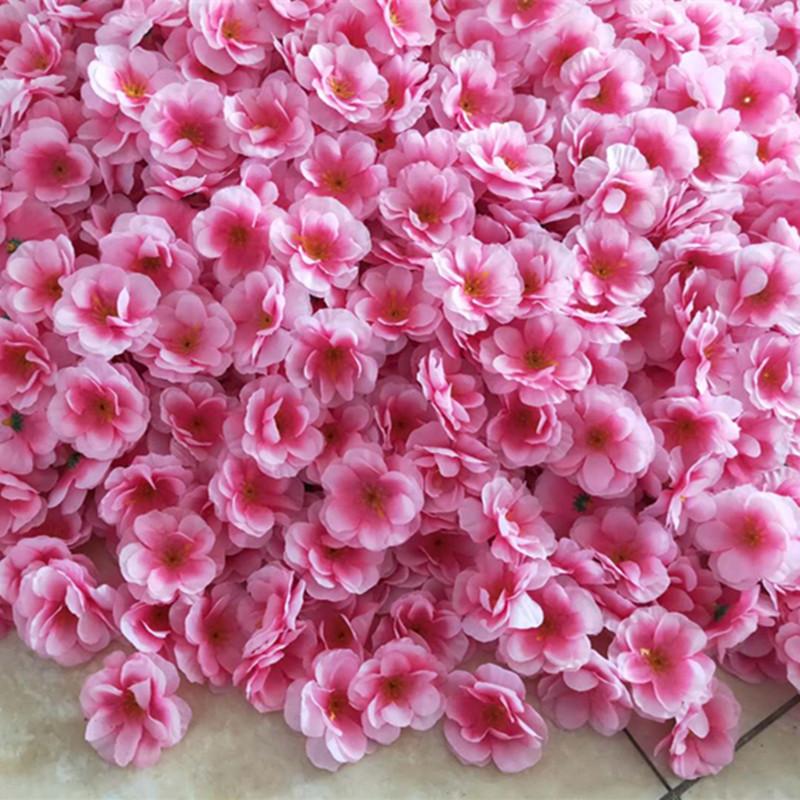 Simulated peach cherry blossom plum rose petal petals shoot prop wedding scene headdress fake flower diy