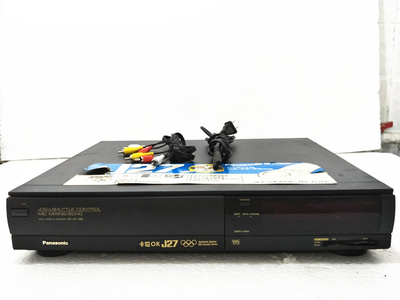 Special offer 100 Japanese original video recorder Panasonic J27 old VCR video tape cassette video
