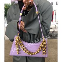 APEDE Mod подмышки сумка (2018 бренд первый Taobao авторизации) воловья кожа весна-лето 2020 фиолетовый