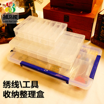 Sorting box storage box stitch line of embroidery sewing box acrylic transparent plastic box of loose beads accessories box