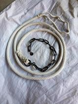 Cattle and Horses donkey supplies cotton reins chewing a set of steel rope traditional horse reins chewing tied cattle reins head