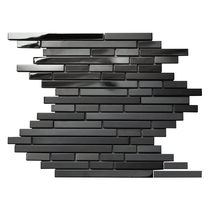 Famous Ma hui black metal stainless steel mosaic TV background wall simple modern mirror long wall tile