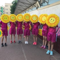 Day Dance Hand flower smiling sunflower Prop Flower Games entrance prop Opening Ceremony Sun Flower