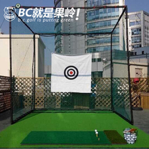 Golf strike Tennis net strike cage indoor outside swing practice net can be equipped with green strike pad set