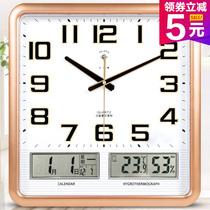 Polaris electronic wall clock living clock modern silent wall minimalist fashion calendar clock quartz clock home