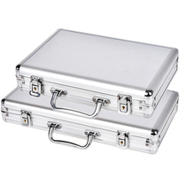 Texas Hold  em silver portable aluminum box Baccarat Black Jack 21-point chess Room chip box aluminum box storage box