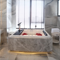 1.7 m 1.85 m double bathtub massage surf embedded acrylic couple constant Temperature Heating Deluxe bathtub