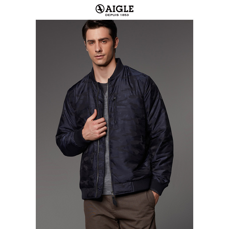 [The goods stop production and no stock]AIGLE Men's Waterproof Lightweight Warm Cotton Jacket CAMOPAD