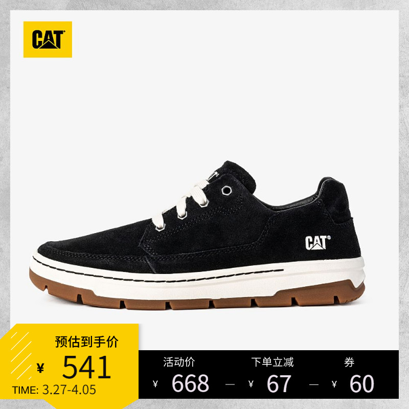CAT Carter 2021 spring casual single-shoe mens black soft and strong resistant to wearing low-help casual single shoes