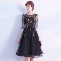 Winter Black Lace party elegant banquet dresses