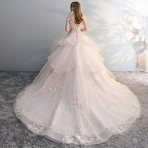 The same Sen Department of Europe and the United States one word shoulder princess Dream Court wedding dress