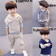 Kids Boys autumn 2017 new 1 children's clothes fall 2 sets of 4 3 three 5 6 year old baby suit spring tide