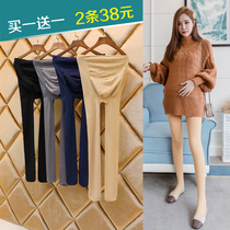 Pregnant women wear pantyhose spring and autumn pantyhose outside the autumn and winter pregnant spring and autumn 託 and velvet stockings