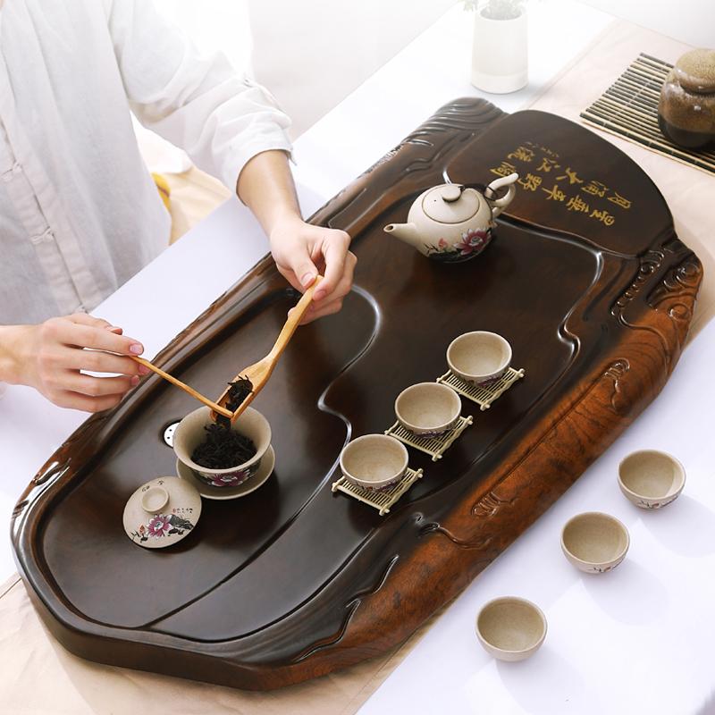 Tea plate home simple rectangular living room kung fu tea set drain tray large tea sea tea table