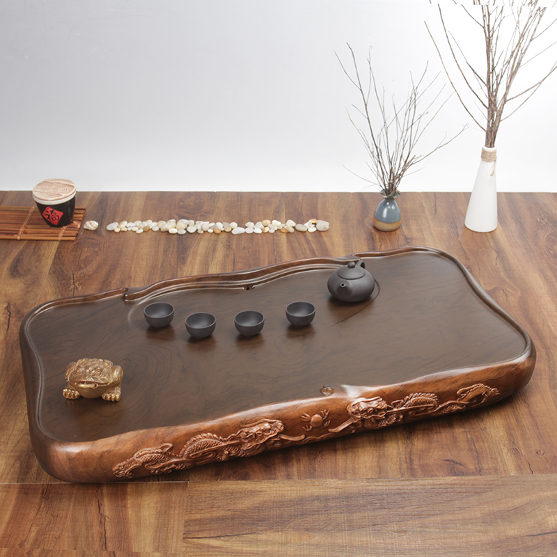 Tea set tea plate home tea table whole piece of science and technology wood imitation solid wood acid branch ebony redwood chicken wing pear set special price