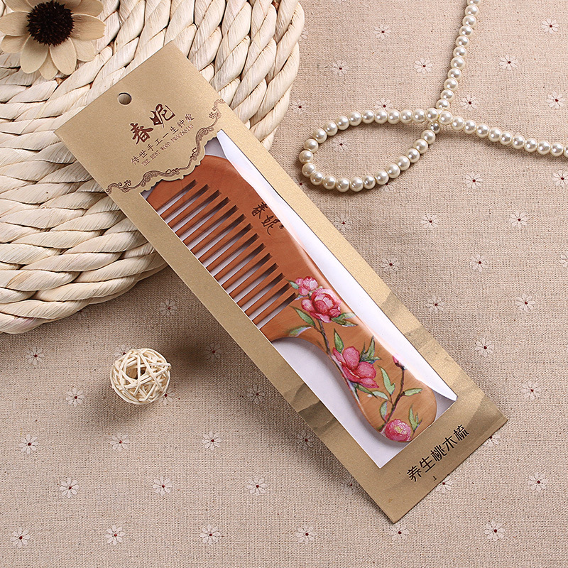 Chunny combs hair, combs hair, combs hair, combs hair, combs hand-painted wood combs, fashionable hairdressing and hair combs