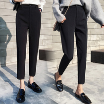 Suit pants nine points 2021 new spring and autumn black trousers autumn pants Women summer casual pipe pants