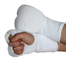 Extremely true boxer Karate protective finger two rows and finger a hit gloves taekwondo hand Gloves