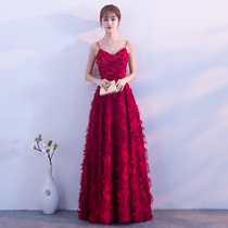 Wine Red Party evening dress