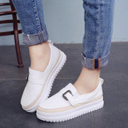 In the autumn of 2017 new white platform shoes thick soled shoes Kevin lazy shoes pedal flat shoes all-match summer