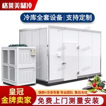 Refrigerator full set of equipment small fruit and vegetable cold storage library fresh library seafood meat freezer ice storage board
