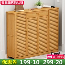 Simple shoe home door storage shoe shelf multi-layer economy large-capacity storage rack solid wood dormitory dust