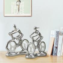 Stylish bike couple pose creative personality romantic wedding gift honey bedroom decorated room accessories