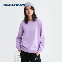 Skechers Skech autumn winter new knitted round-necked sweatshirt sportswear womens L420W044