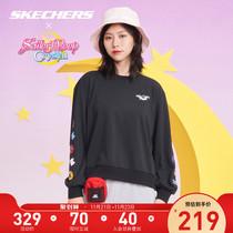 Skechers Sketch Winters new Beauty Girl Warrior co-named the womens round-necked hoodie sportswear