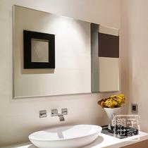 Frameless toilet mirror wall-mounted bathroom mirror bathroom dresser toilet glass mirror sticker wall bathroom mirror