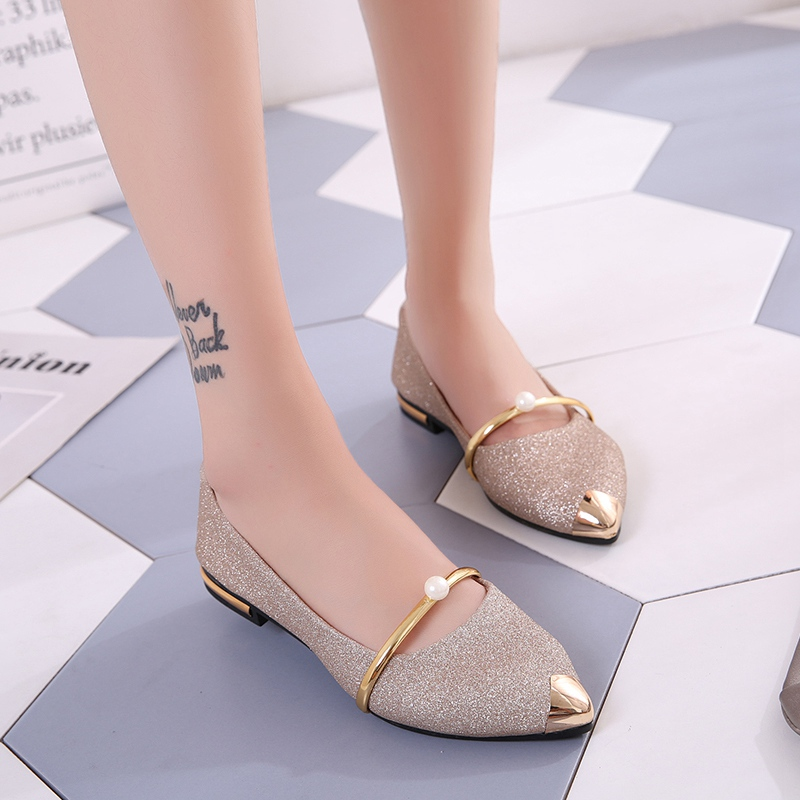 2009 new summer Korean version of shallow chic single shoe women's shoes fashion 100 sets of pointed flat sole retro pedal