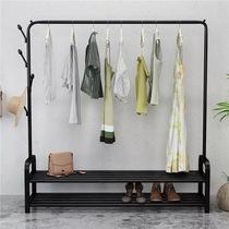 Drying Rack Floor Folding indoor single-pole clothes rack bedroom hanger home simple cool clothing shelf