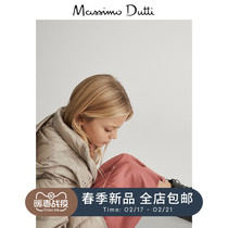 Massimo Dutti girls quilted design Hooded Down Jacket casual warm childrens down jacket 06701101710