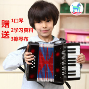 Export European professional accordion Tuba 8 bass 17 key adult children early childhood music instruments authentic